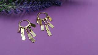 Женские сережки висюльки серьги кольцо конго из медицинского золота FASHION 12 38297
