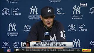 Aaron Boone on losing a series to the Blue Jays