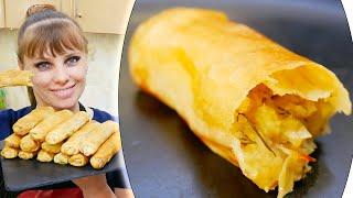 Постные пирожки с картошкой! ТЕСТО ТОНКОЕ аж светится! Слоеные пирожки в духовке за 20 минут.