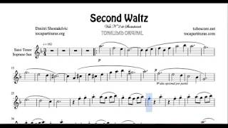 Second Waltz Sheet Music for Tenor Sax and Soprano Saxophone by Shostakovich