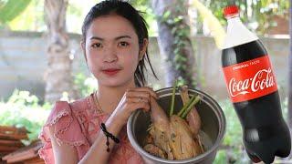 Primitive Cooking Delicious Cook Roast Chicken With Coca Cola - Chicken   Yummy cooking