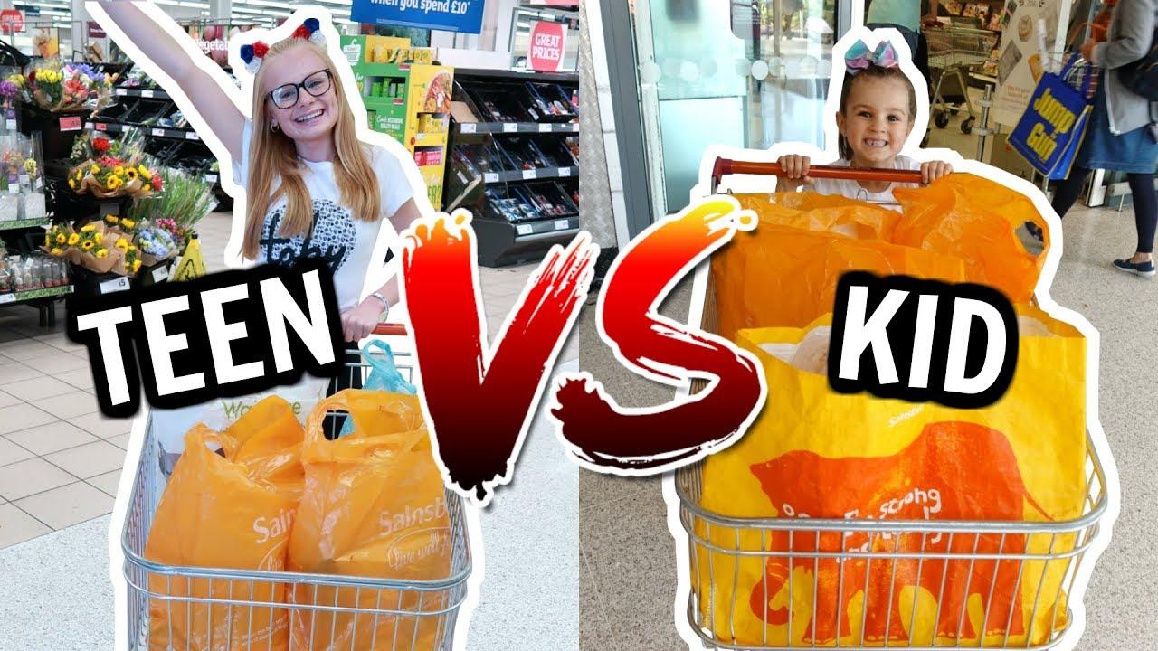 teen-vs-kid-grocery-shopping-challenge