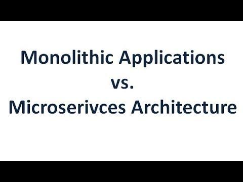 Monolithic Application vs. Microservices Architecture ...