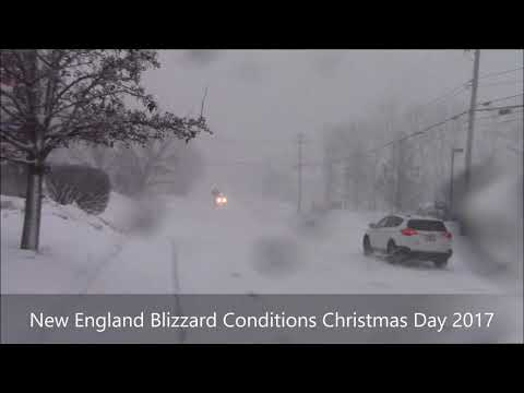 Northern New England Blizzard Christmas 2017