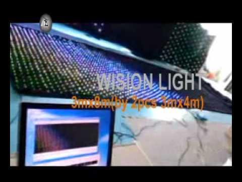 led vision curtain 3mx4m P9   sales@lightupvision.com