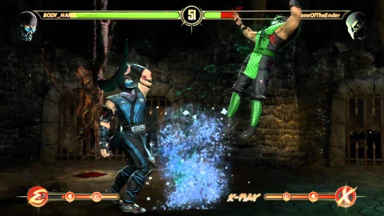 Mortal Kombat 9 2011 Sub Zero vs Reptile - YouTube
