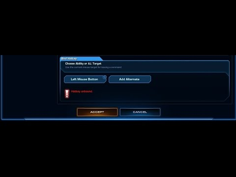 Starcraft 2 Co-Op: How to apply Choose Ability or A.I. Target.