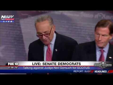 WATCH: Senator Chuck Schumer Speaks Out Against Judge Neil Gorsuch (FNN)
