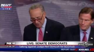 WATCH: Senator Chuck Schumer Speaks Out Against Judge Neil Gorsuch (FNN)