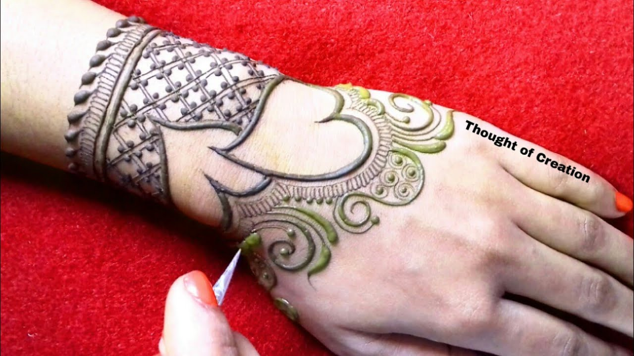 Valentine's Day Special Heart Shape Stylish Mehndi Design for Hands