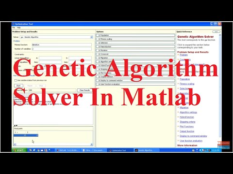 How to Use Genetic Algorithm Solver in Matlab?