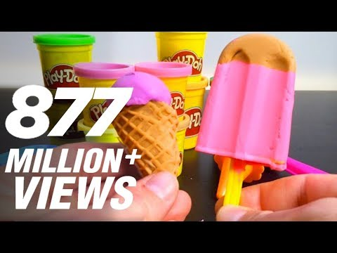 Play Doh Ice cream cupcakes playset playdough  Unboxingsurpriseegg