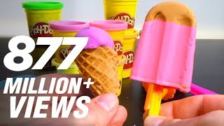 Repeat youtube video Play Doh Ice cream cupcakes playset playdough by Unboxingsurpriseegg