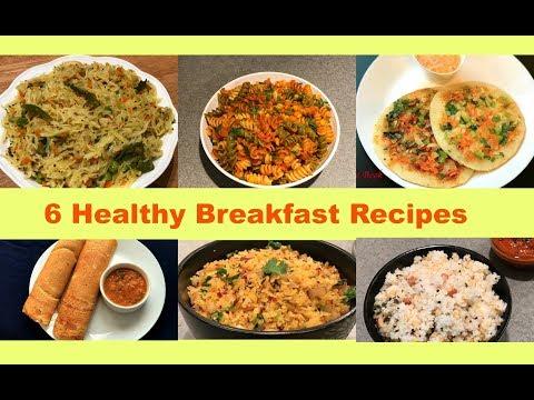 6 Instant Breakfast Recipes | Quick Indian Breakfast Recipes | Instant Breakfast Ideas | Recipe Book