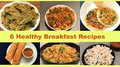 Healthy Veg Breakfast Recipes | Quick Indian Breakfast Recipes | Easy Breakfast Ideas | Recipe Book