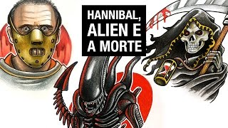HANNIBAL, ALIEN e MORTE | Comentado - Speed Drawing #36