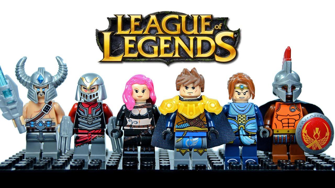 LEGO League of Legends KnockOff Minifigures Set 2 w/ Garen Katarina  Pantheon Xin Zhao & Zed