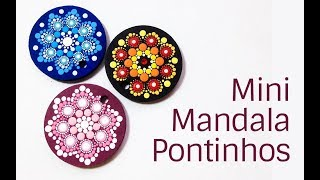 Mini Mandala de Pontinhos | Dot Mandala Painting