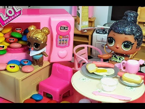 УТРО КУКЛЫ ЛОЛ LOL Surprise Doll Morning Routine Завтрак из Плей До