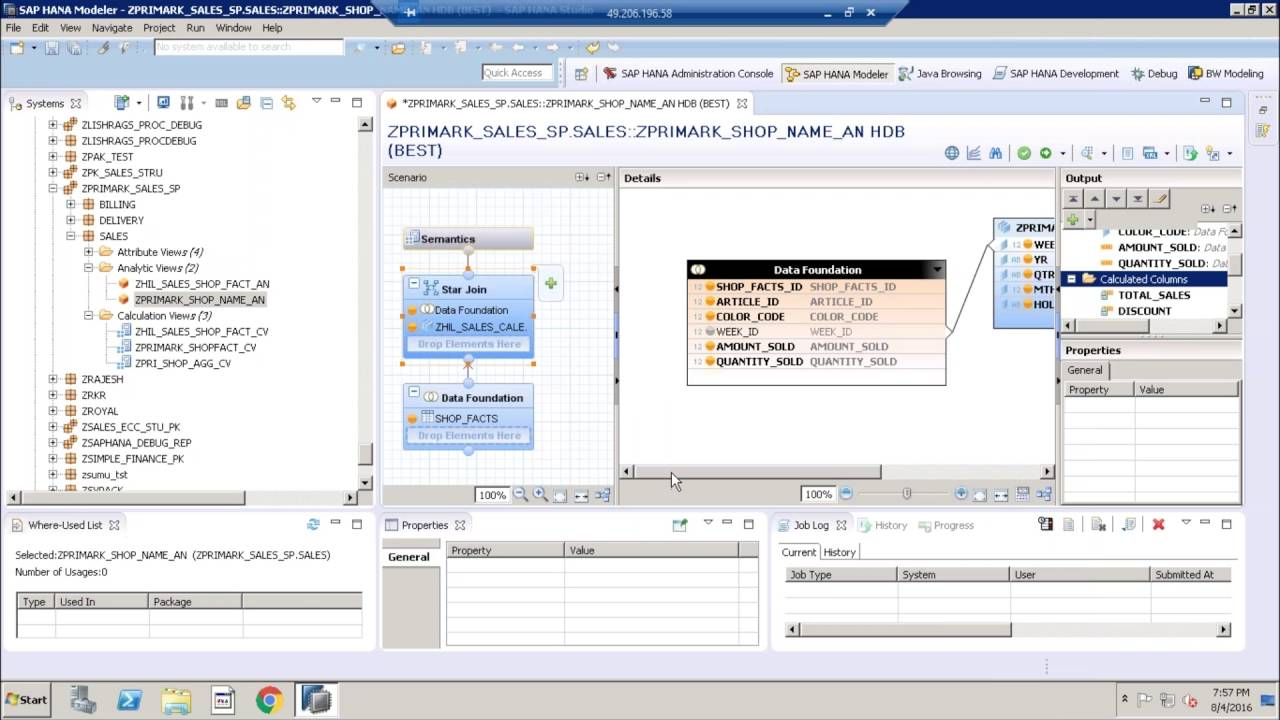 SAP HANA - Create Input parameters and Variables in Analytic views