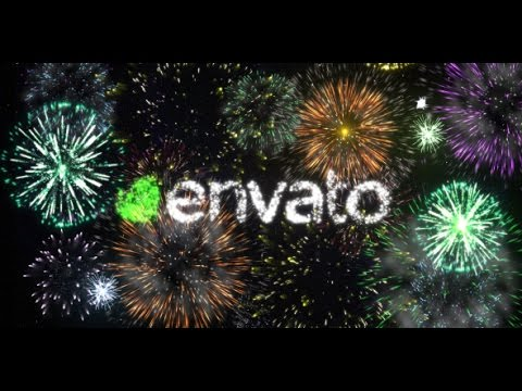 fireworks celebrating logo after effects template youtube