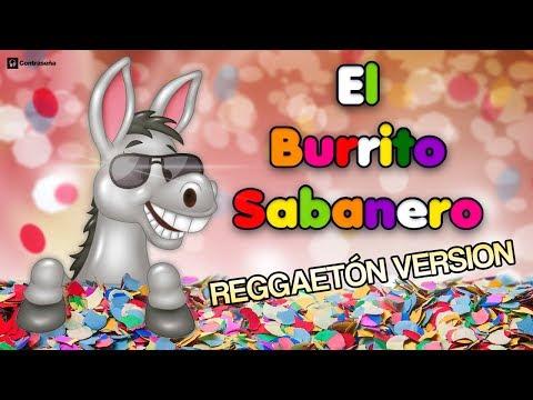 Mi Burrito Sabanero, El Burrito de Belen, Reggaeton Remix Musica para Niños Villancico Karaoke Video