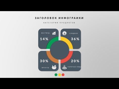Стильные примеры презентаций - Простая инфографика в Powerpoint. Infographics PowerPoint