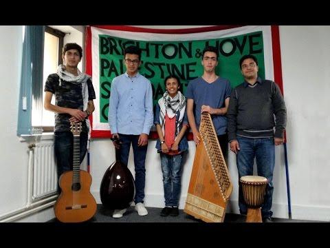 Gaza Music School performing  traditional Palestinian Dabke in Brighton