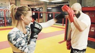 ДЕВУШКА БЬЕТ БОЙЦА MMA?  / ТРЕНИРОВКИ И СМЕШАННЫЕ ЕДИНОБОРСТВА