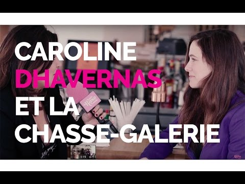 Caroline Dhavernas et la ChasseGalerie  Tapis rose