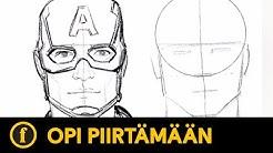 Opi piirtämään Captain America | Draw with Vizdem Art School