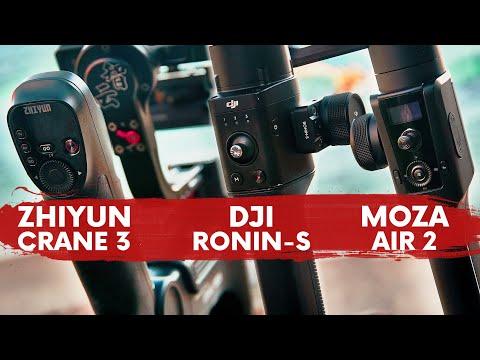BATTLE! ZHIYUN CRANE 3 LAB vs DJI RONIN S vs MOZA AIR 2 COMPARISON