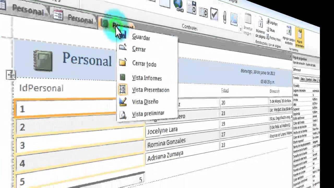 Tutorial - Como crear una Base de datos en Access 2010 - YouTube