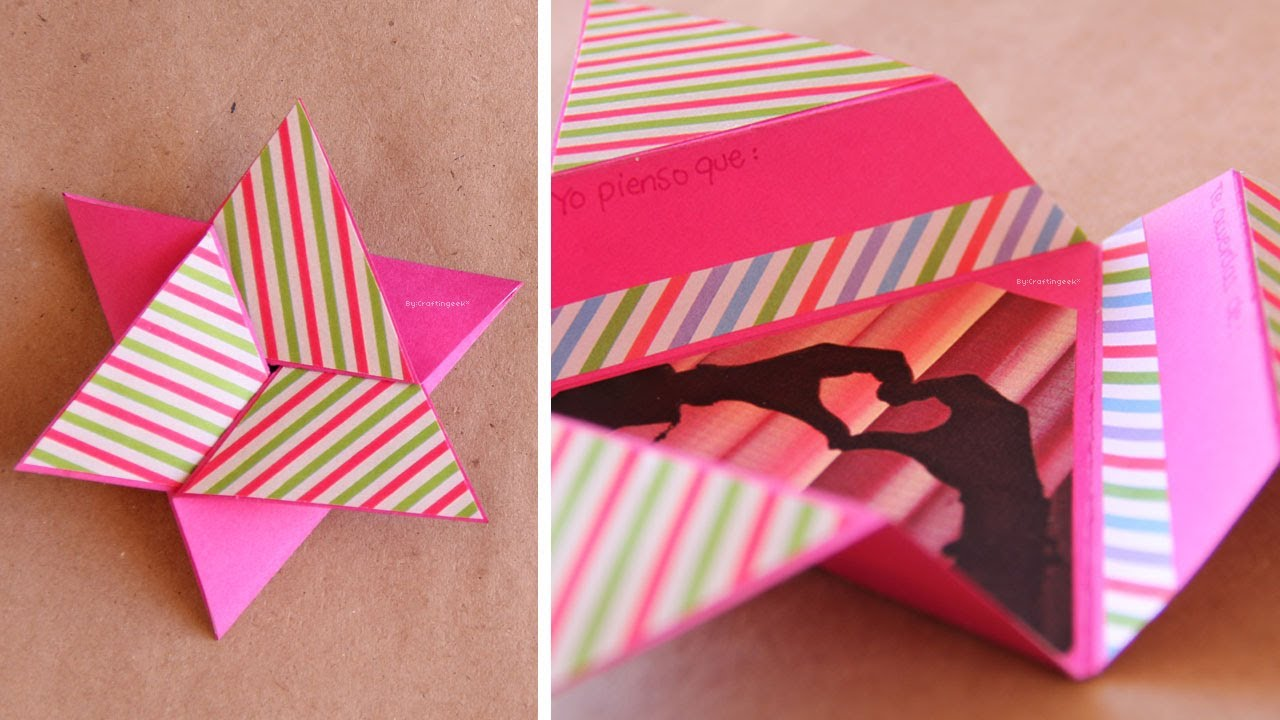 Tarjeta Estrella Scrapbook FACIL Star card DIY