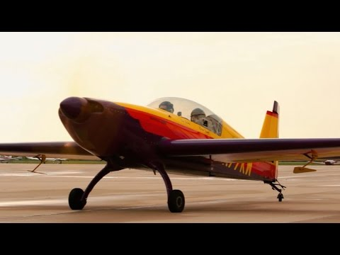 Aerobatics - Extra 300 - part 1 - aircraft familiarization - POV Flying - ATC audio poster