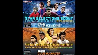 PES Club Manager - Star Selection Scout European & South American Legends Edition