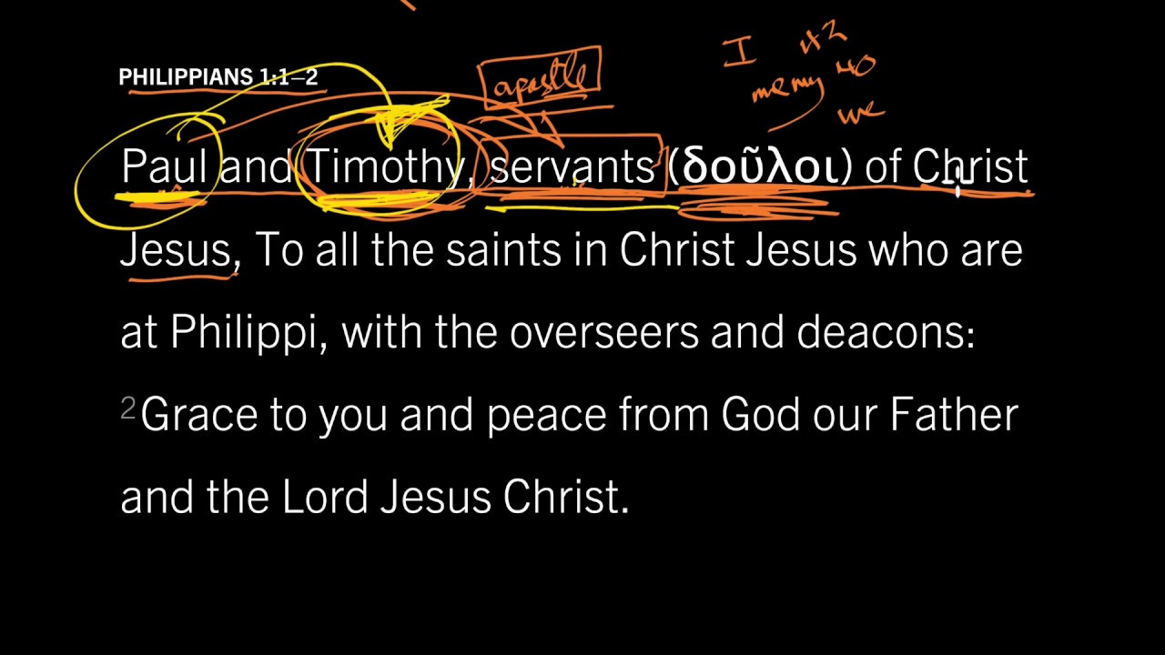 Philippians 1:1 // Do You Serve God or Man? // To Live is Christ