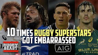 10 Times Rugby Superstars got EMBARRASSED