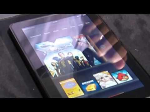 Amazon Kindle Fire tablet demo