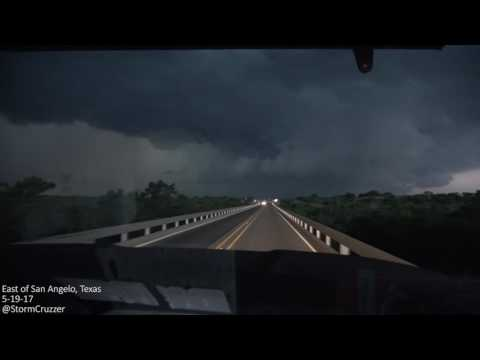 Embedded supercell east of San Angelo, Texas