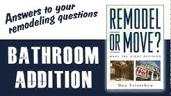 Instant Bathroom Addition Cost Estimate from RemodelOrMove.com Bathroom Remodeling Cost Calculator