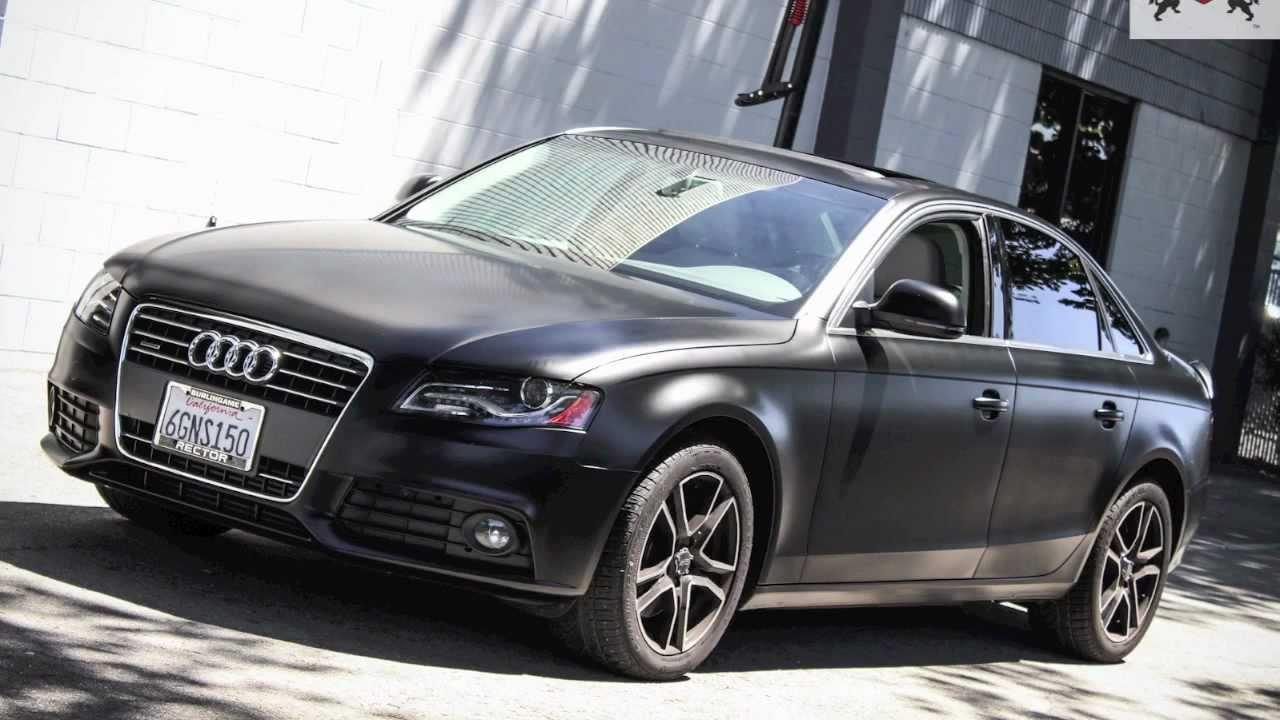 Ssc Audi A4 Satin Black Vinyl Wrap Youtube