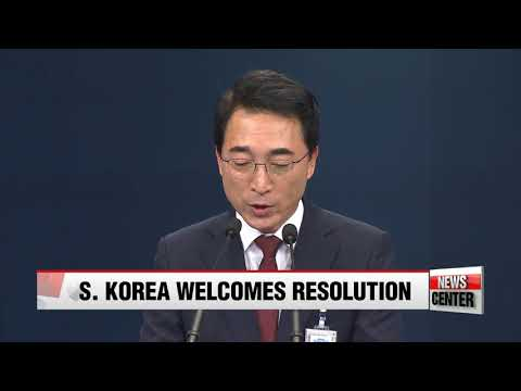 Seoul welcomes adoption of latest UN Security Council Resolution