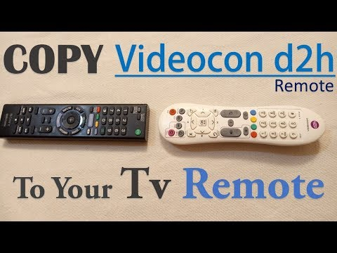 Convert Tv Remote to Set-up box remote( Videocon D2h )  in Hindi