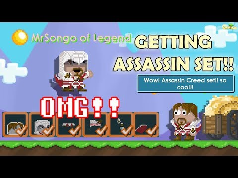 GETTING FULL EZIO SET REVIEW + NEWS!! HOW?? ASSASSIN CREED SET OMG!!  GrowTopia