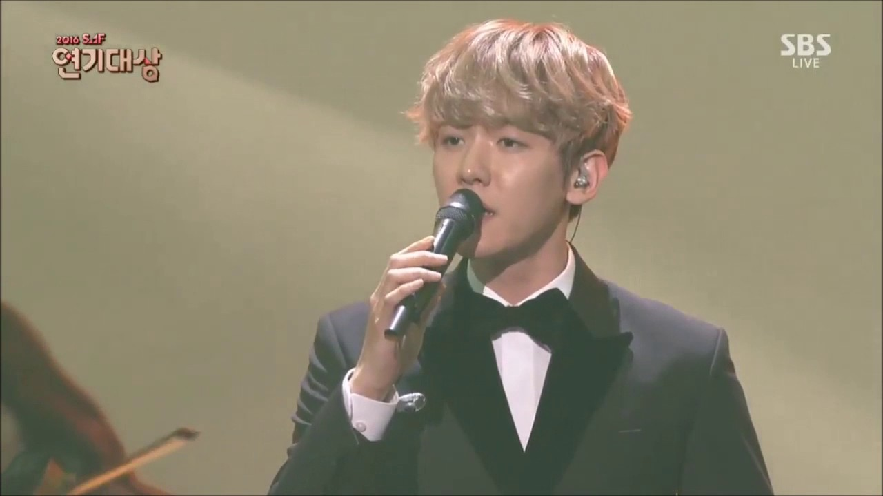 "161231 BAEKHYUN EXO ""For You"" OST Moon Lovers: Scalet Heart Drama Awards 720p"