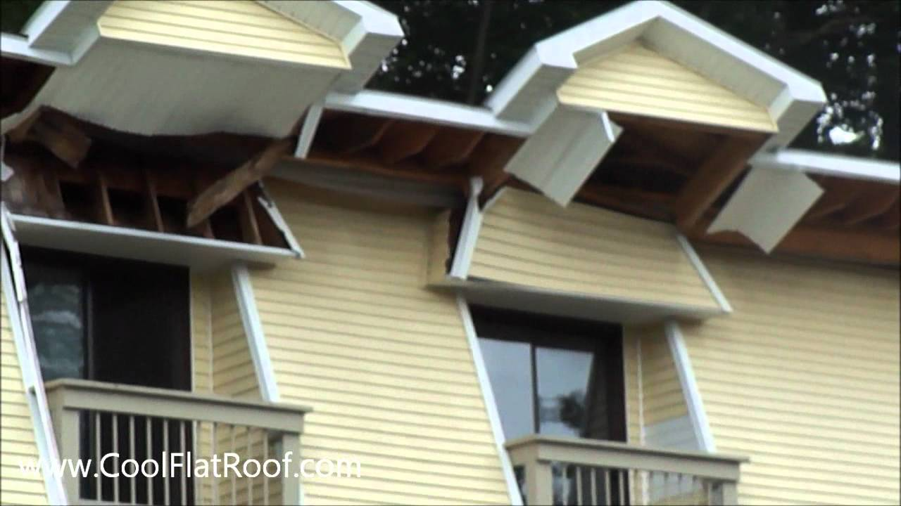 Roof Collapse Total Fail Install Metal Roofing Youtube