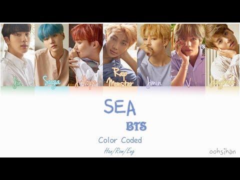 BTS (방탄소년단) – SEA (바다) Lyrics Color Coded [Eng/Han/Rom]
