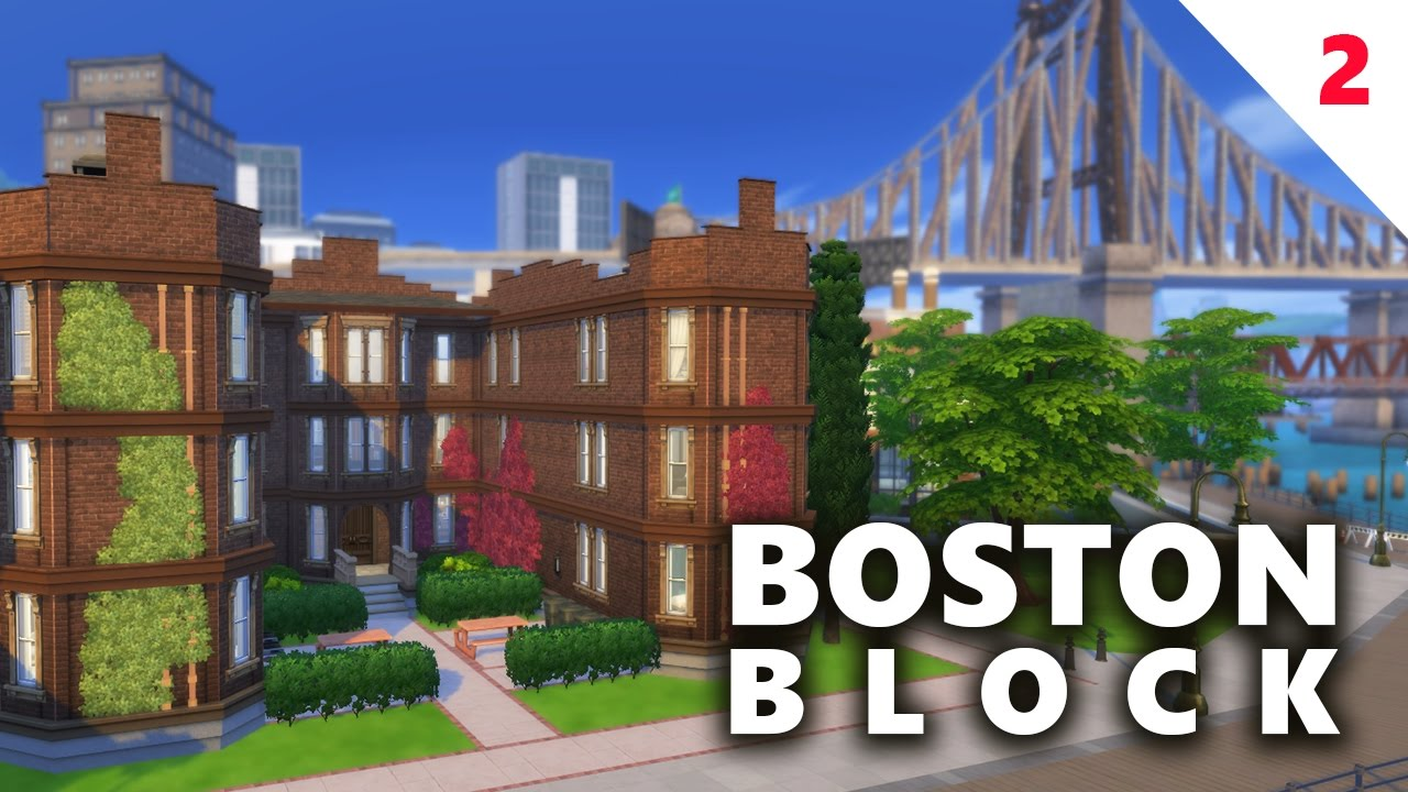 The sims 4 house building boston block apartments part for Modern house 7 part 2