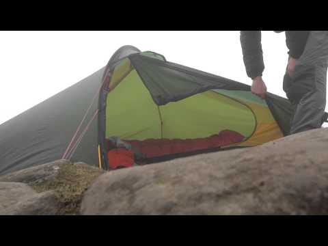 How to do use the outer door of a Hilleberg Akto Tent.